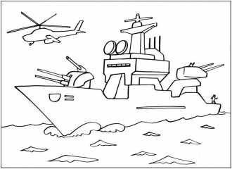 Лучшие раскраски для мальчиков, море, просторы, военные корабли