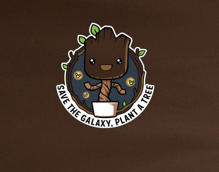 Save the Galaxy Plant a Tree Guardians of Galaxy Chibi Groot Funny mother earth tee t-shirt
