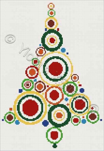 Christmas tree cross stitch kit or pattern