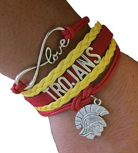 University of Southern California USC Trojans Bracelet