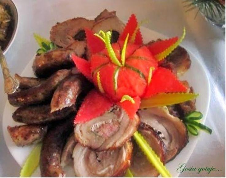 Gosia gotuje: Pieczone mięsa: karczek, boczki, schab ze śliwką
