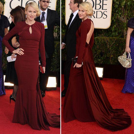 Golden Globes, 2013- Naomi Watts in Zac Posen, Love this color!