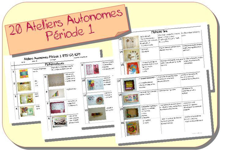 Ateliers Autonomes Période 1 MS-GS - Zaubette