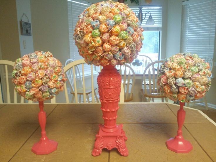 Lollipop Trees: Paint A Candlestick The Color You Prefer