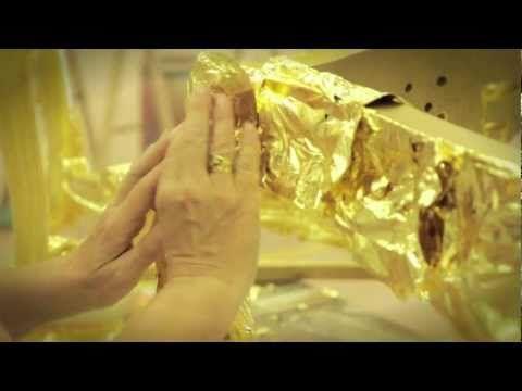 Pan de oro. Dorado de una tabla HD - YouTube