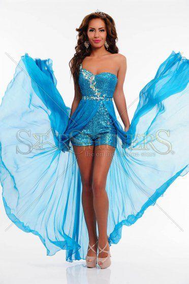 Rochie Sherri Hill 21056 Turquoise