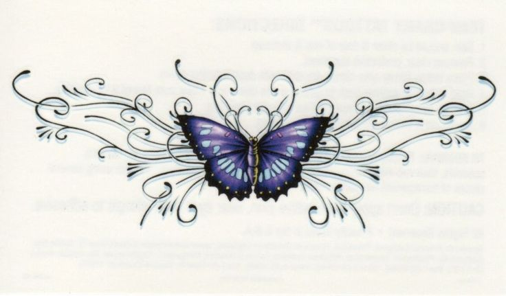 ... - Butterfly Tramp Stamp Tattoo Pictures Photos At My Tattoo Shot