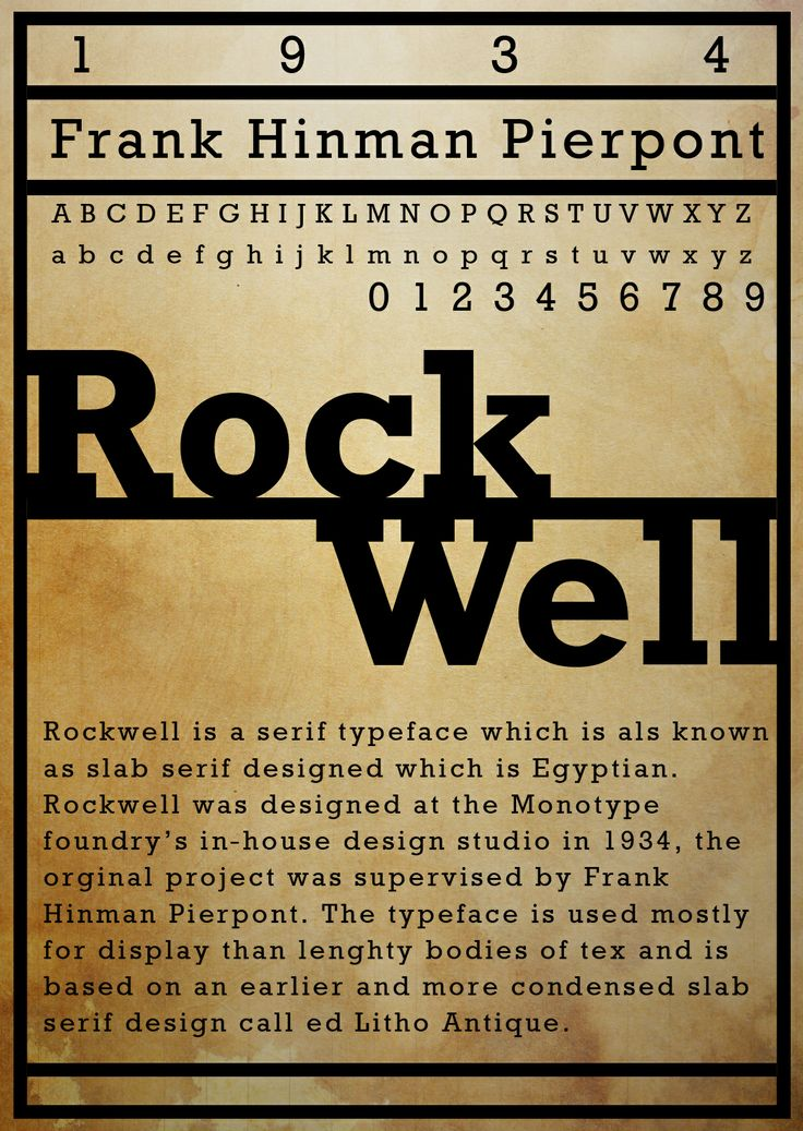 30 best Rockwell Typeface images on Pinterest | Typography ...