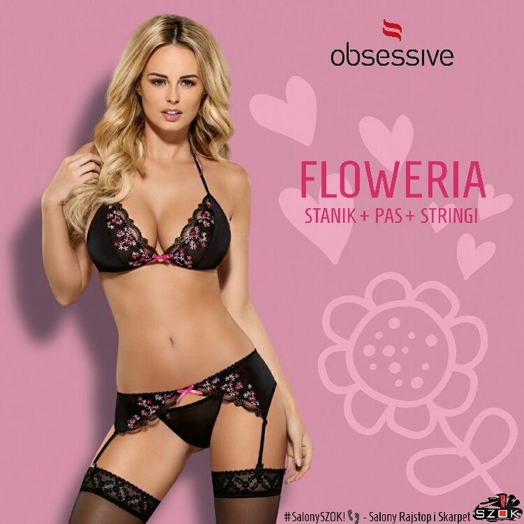 🔴 Trzy #pikantne elementy #cudownej #bielizny #Floweria firmy #Obsessive z mnóstwem drobnych, #uroczych #kwiatków! Dostępne w Naszych #SalonySZOK!👣 💯♨❤