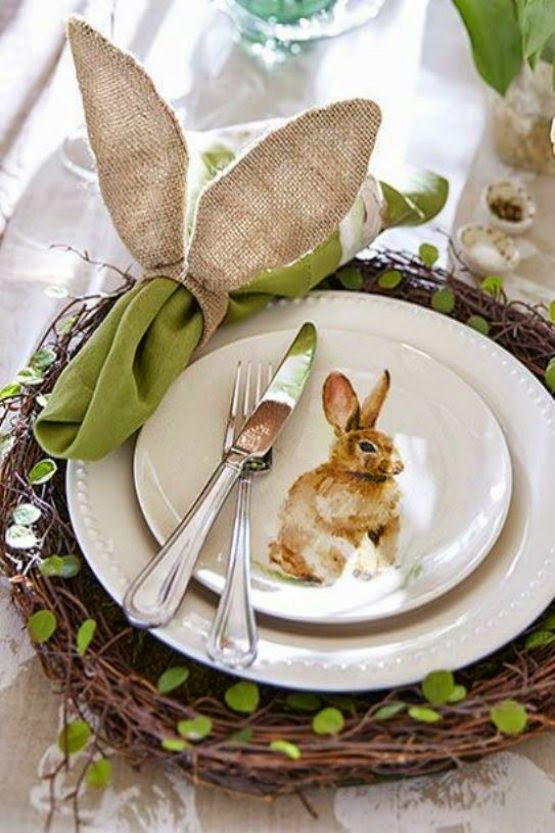 bunnies at Pottery Barn: Easter table inspiration