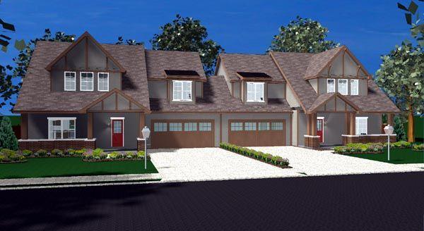 Duplex Plan chp-45506 at COOLhouseplans.com