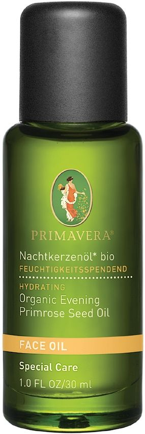 Primavera Organic Evening Primrose Oil softens, conditions & moisturises delicate dry skin. The high Gamma Linolenic Acid (GLA) content helps restore elasticity to dry & rough skin. GLA (an essential fatty acid) is vital for maintaining normal skin function. Primavera Evening Primrose also soothes acne outbreaks and irritated skin. Regulates cell metabolism & secretions from the sebaceous glands to restore balance & unclog pores, helping to prevent acne.