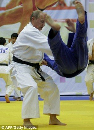 "From 23 December 2010, Putin shows he's a manly man:  ""Macho man Putin shows off the judo moves that won him a black belt"" Photo - In flight: Putin's opponent gets a taste of the high life"
