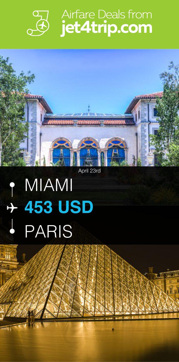 Flight from Miami to Paris for $453 by Air France #travel #ticket #deals #flight #MIA #PAR #Miami #Paris #AF #Air France