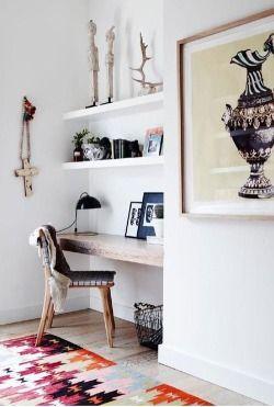 shelf desk combo