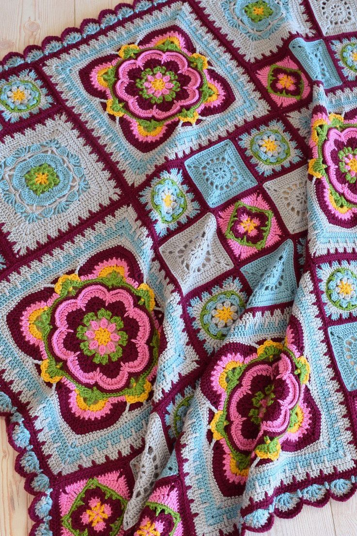 Free Crochet Rose Blanket Pattern : 17 Best images about Crochet Blankets on Pinterest Free ...