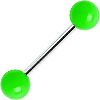 Green Neon Barbell Tongue Ring #piercing #tonguering #bodycandy $1.99