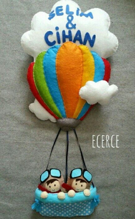 Keçe kapı süsü balon