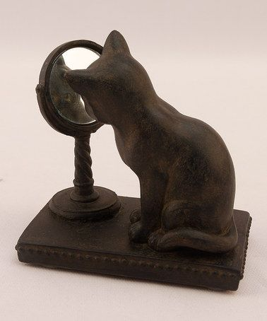 Take a look at this Mirror Cat Sculpture by Young's on #zulily today!