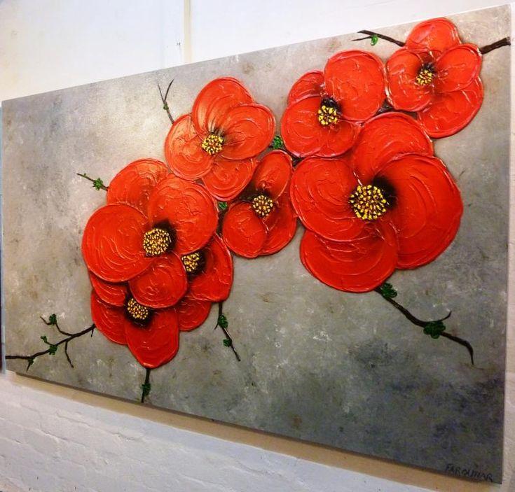 simple paintings of flowers