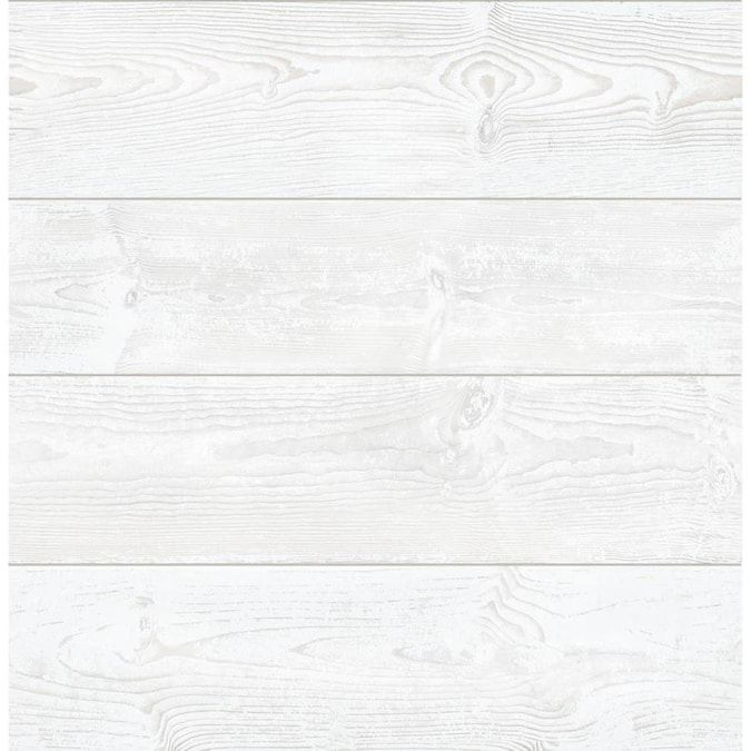 Scott Living 30 75 Sq Ft White Vinyl Textured Wood 3d Self Adhesive Peel And Stick Wallpaper Lowes Com In 2021 Wood Vinyl Peel And Stick Wallpaper White Vinyl