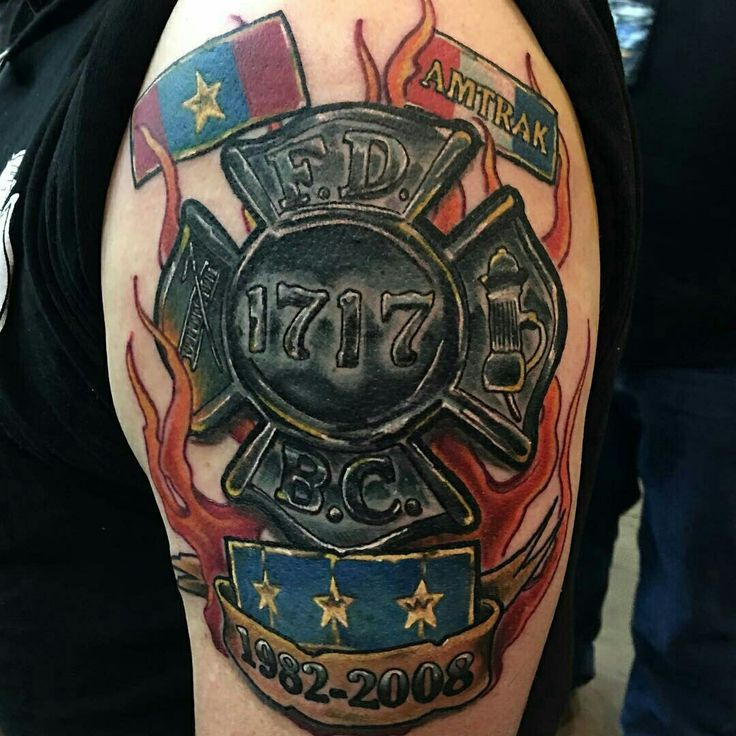 Canadian firefighter tattoos images for Tattoo shops junction city ks