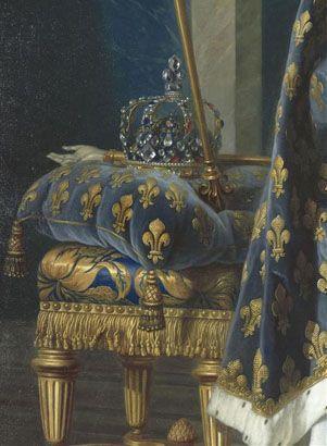 Detail from Louis XV by Louis-Michel Van Loo, 1763 #Art #Detail