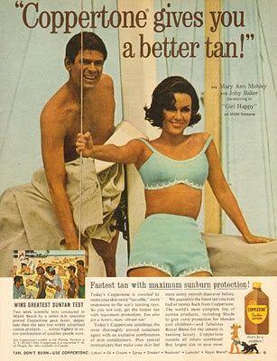 0 Joby Baker & Mary Ann Mobley - coppertone suntan lotion ad