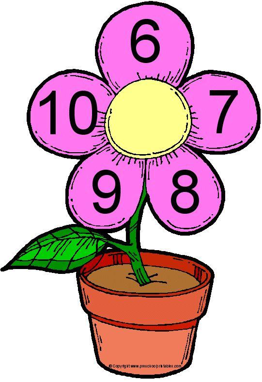 File Folder Game: Numbers In Bloom