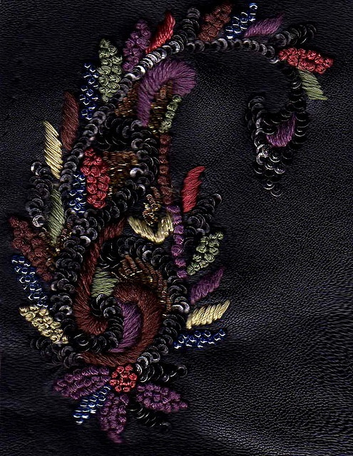 Threads and sequins on leather by soulquest.lifestyle, via Flickr