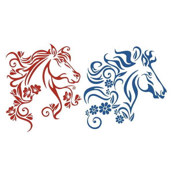 Horse Flower Cuttable Design Cut File. Vector, Clipart, Digital Scrapbooking Download, Available in JPEG, PDF, EPS, DXF and SVG. Works with Cricut, Design Space, Cuts A Lot, Make the Cut!, Inkscape, CorelDraw, Adobe Illustrator, Silhouette Cameo, Brother ScanNCut and other software.