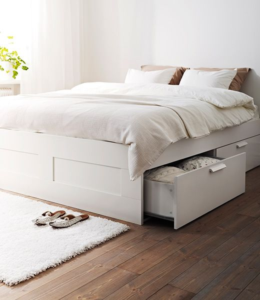 Brimnes Double Bed Frame White