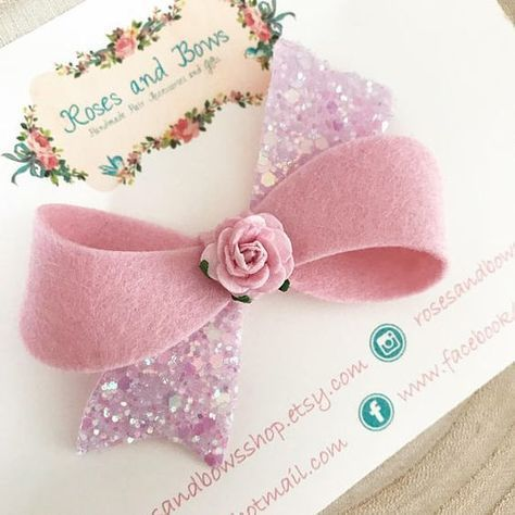 Pastell Haarschleife Blume Twist Bow Stirnband Twist Bow Clip Filz & Glitter Bow Baby Bow Baby Stirnband Haarschleife Wahl der Farben