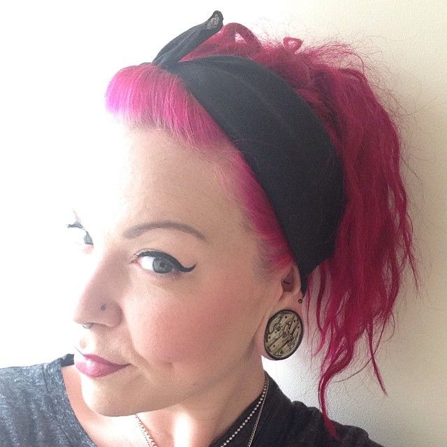 Lisa again, rocking her 36mm Jamlincrow plugs! #StretchedEars #plugs