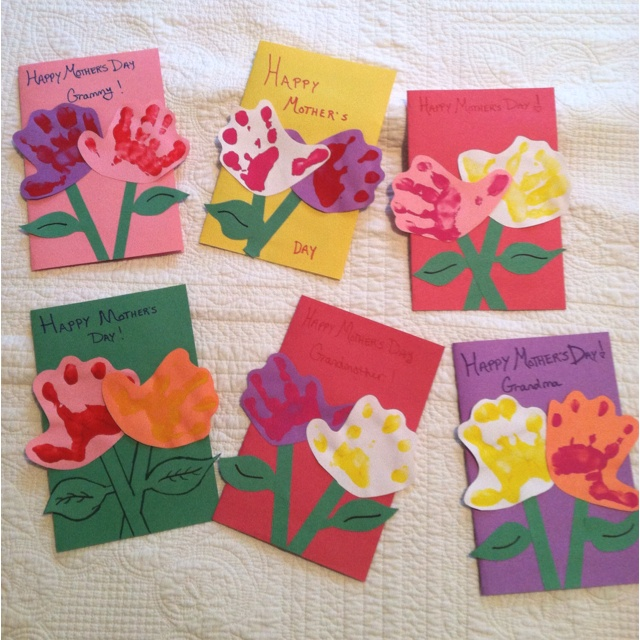 Mothers Day Craft Cards For Kids - Beauty Craft