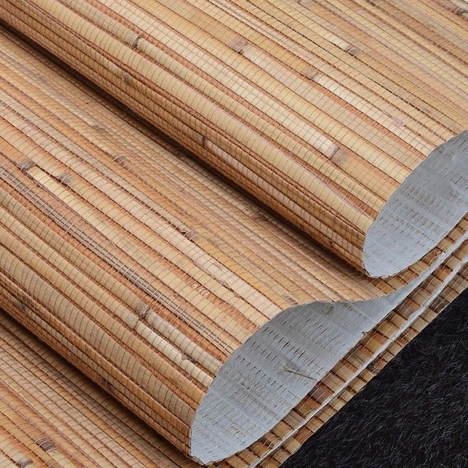natural bamboo STRAW wallpaper rolls wall paper for bedroom dining room
