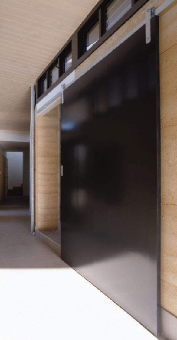 Centor A6 Internal sliding system with exposed hardware (Barn door style)