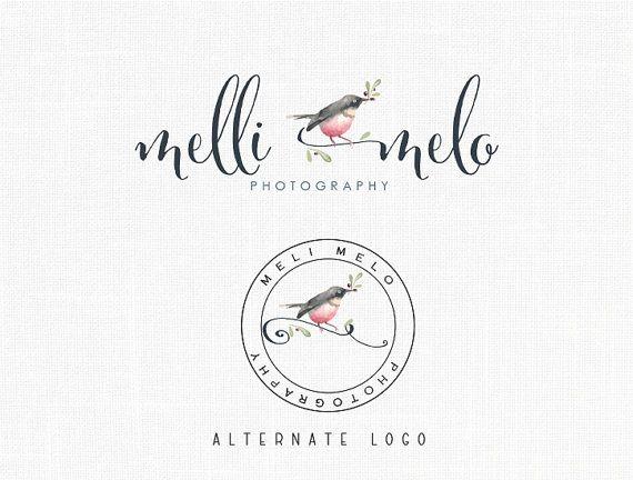 Photography Bird Logo Design Romantic Logo Boutique Logo Artisan