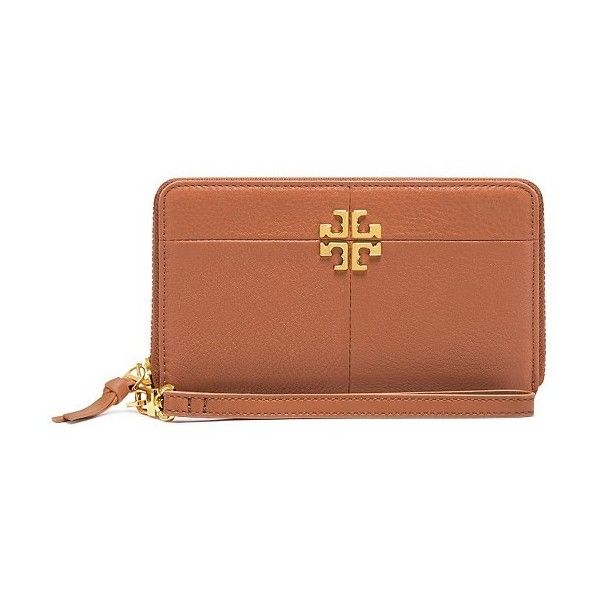 Tory Burch Ivy Smartphone Wristlet featuring polyvore, women's fashion, accessories, tech accessories, zipper wristlet, zip wristlet, tory burch tech accessories, smart phone wristlet and smartphone wristlet