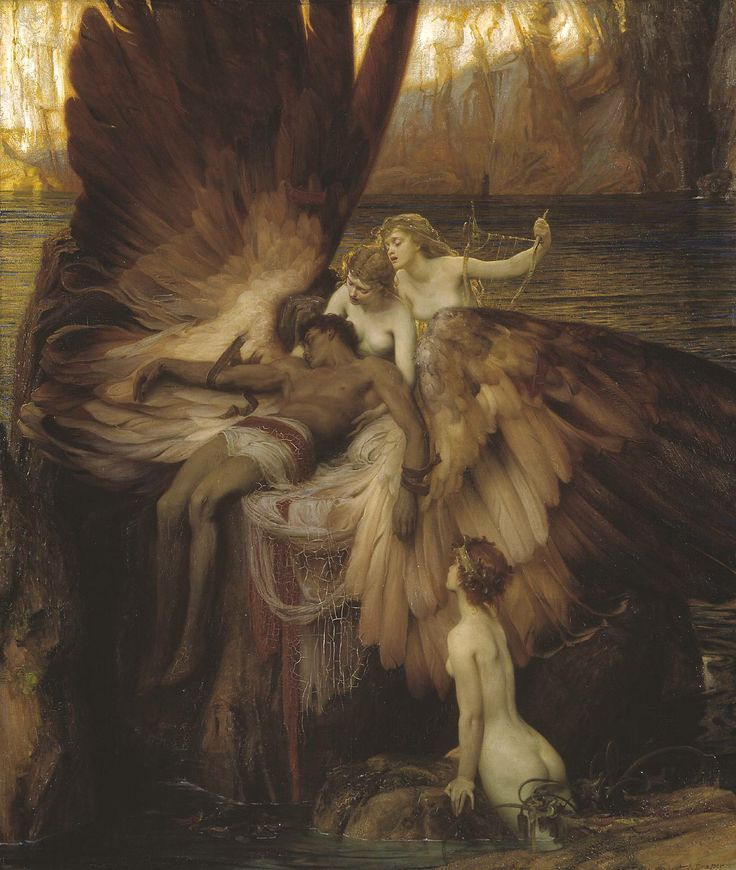 Herbert Draper | The Lament for Icarus, exhibited 1898