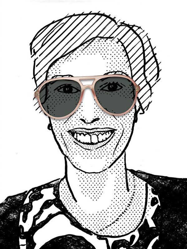 Fred, illustration by Julia Kaiser. #eyewearportraitproject #faces #portrait #drawing #illustration #fashion #eyewear #glasses #shades #frames #vintage #shadow #blackandwhite #fashionillustration #studiojuliakaiser #eyewearvintage