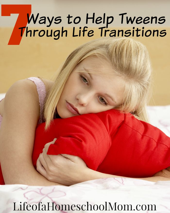 Transitioning through the #tween years can be difficult, but your #support really helps. http://lifeofahomeschoolmom.com/2016/04/7-tips-for-helping-tweens-through-life-transitions/