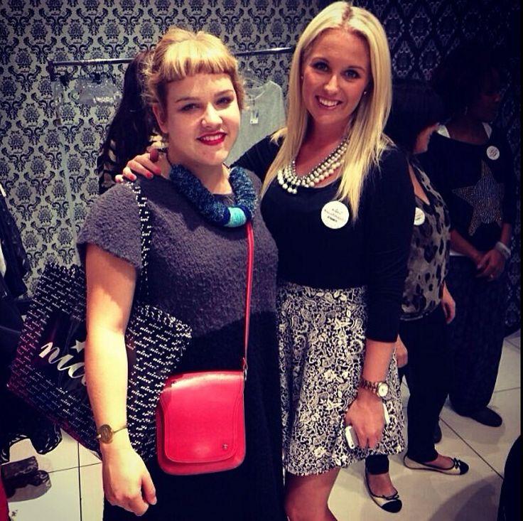 Roxanne Robinson & Gaby Trathen at #NicciWinter14 launch