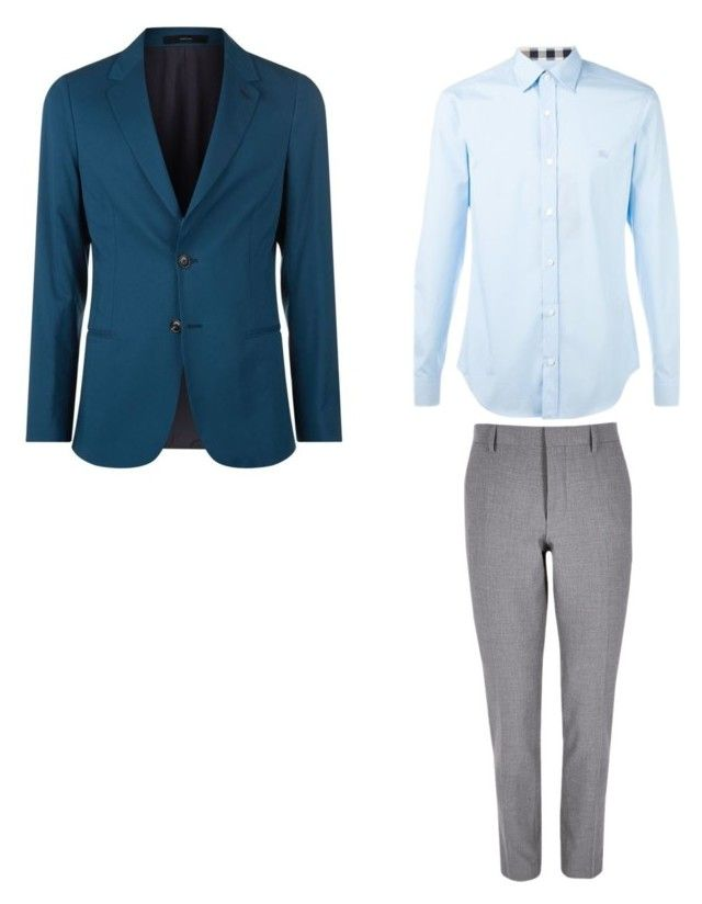 """Без названия #2"" by hyzirt on Polyvore featuring River Island, Burberry, Paul Smith, men's fashion и menswear"