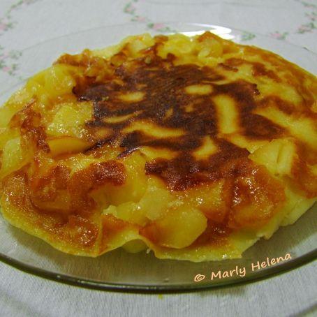 Torta de maçãs relâmpago (ou bananas)