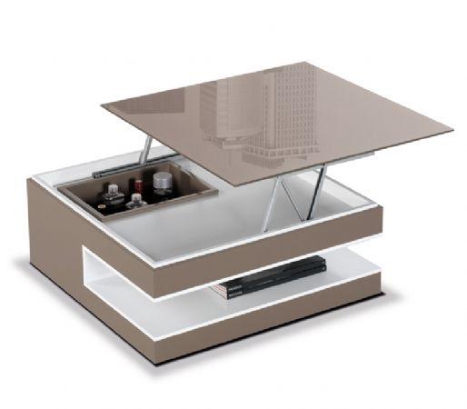 mesa cuadrada elevable mesa de centro con botellero