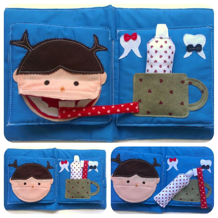 Brush you teeth! Quiet book. Mamonina on etsy More