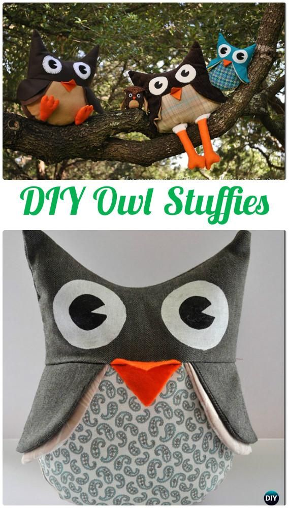 DIY Owl Stuffies Free Template Instructions-DIY Sew Owl Craft Projects
