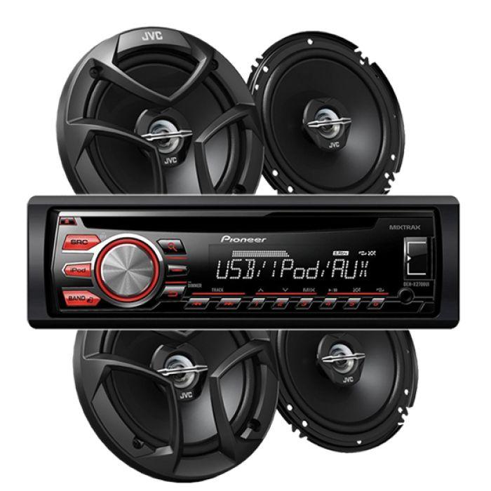 PAK017 DEH-X2700UI + 4 Bocinas JVC | Audioonline | La Tienda #1 de Car Audio