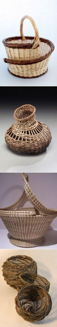 Karen Grossart   Newspaper's baskets!   Корзины, Поделки-корзинки и Плетеные Корзины